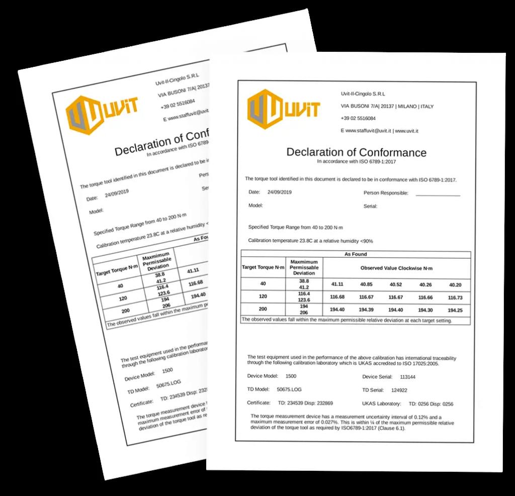 Certificazioni e tarature - Uvit